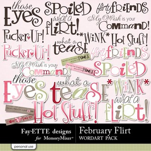 February flirt wordart medium