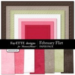 February Flirt Textured Paper Pack-$2.99 (Ettes and Company by Fayette)