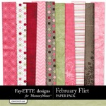 February Flirt Paper Pack-$3.99 (Ettes and Company by Fayette)