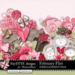February Flirt Embellishment Pack-$2.99 (Ettes and Company by Fayette)