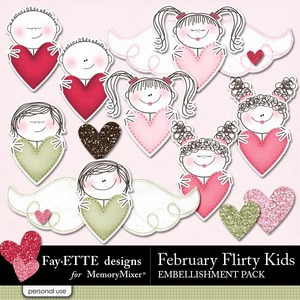 February flirty kids emb medium