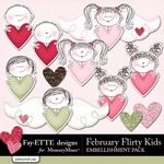 February Flirty Kids Embellishment Pack-$1.99 (Ettes and Company by Fayette)