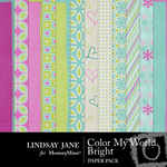 Color My World Bright Paper Pack-$3.49 (Lindsay Jane)