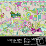 Color My World Bright Embellishment Pack-$1.75 (Lindsay Jane)