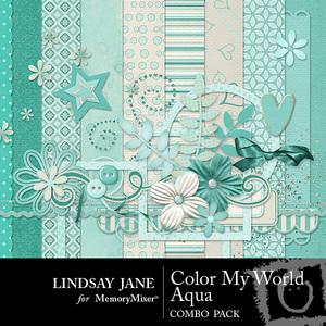Color my world aqua combo medium