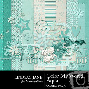Color my world aqua combo medium