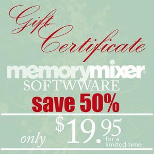 Gift Certificate MemoryMixer v4-$19.95