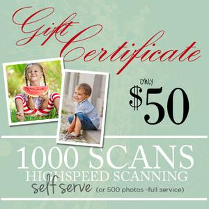 DIY Photo & Slide Scanning  1000 Scans-$50.00