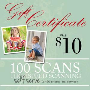 DIY Photo & Slide Scanning 100-$10.00