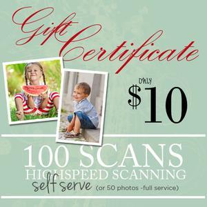 DIY Photo & Slide Scanning 100-$10.00