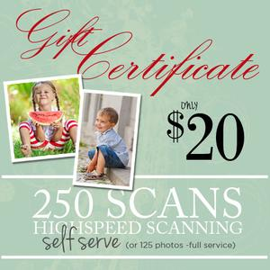 DIY Photo & Slide Scanning 250-$20.00