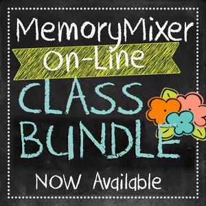 Memorymixer digital scrapbooking downloadable class bundle medium