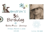 KAMERON'S 5TH BIRTHDAY (JENNA)