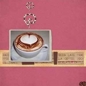 Cafe chic heart coffee medium