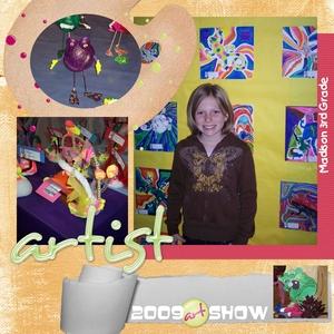 Madison 3rd grade art show medium