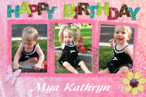 Mya s 1st birthday medium