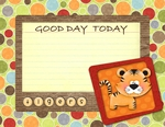 Tiger good day cards p001 small