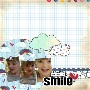 You make me smile layout medium