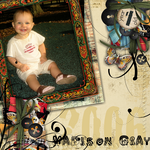 baby's 1st birthday page design (Stace Face)