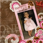 Birthday Girl's 1st Birthday page design (Stace Face)